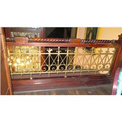 "1-Piece Wrought Iron Scrollwork Railing Accent - Section Measures (123""L x 29""W)"