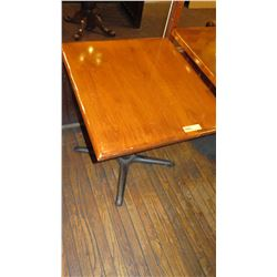 "Rectangular Hardwood Table w/Metal Base  27 x 30 x 27.5""H"