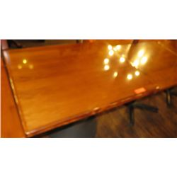 "Rectangular Hardwood Table w/ Metal Base 38 x 30 x 30""H"