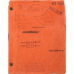 Casablanca producer Hal Wallis' of the shooting script with additional Warner Bros. production file.