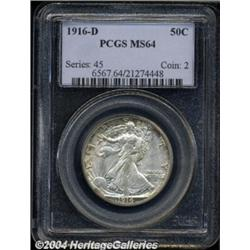 1916-D 50C MS64 PCGS.