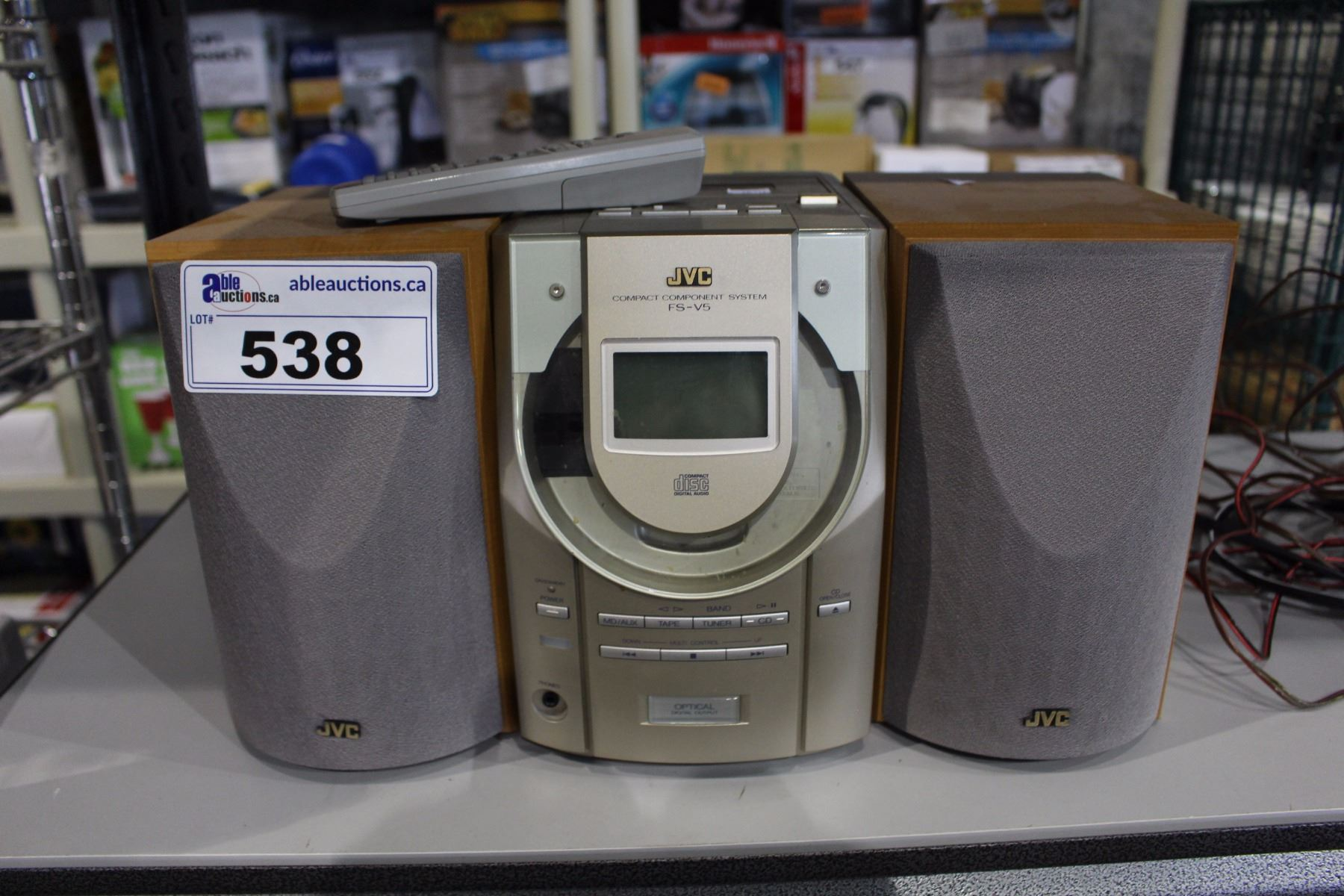 Image 1 JVC BOOKSHELF STEREO WITH REMOTE