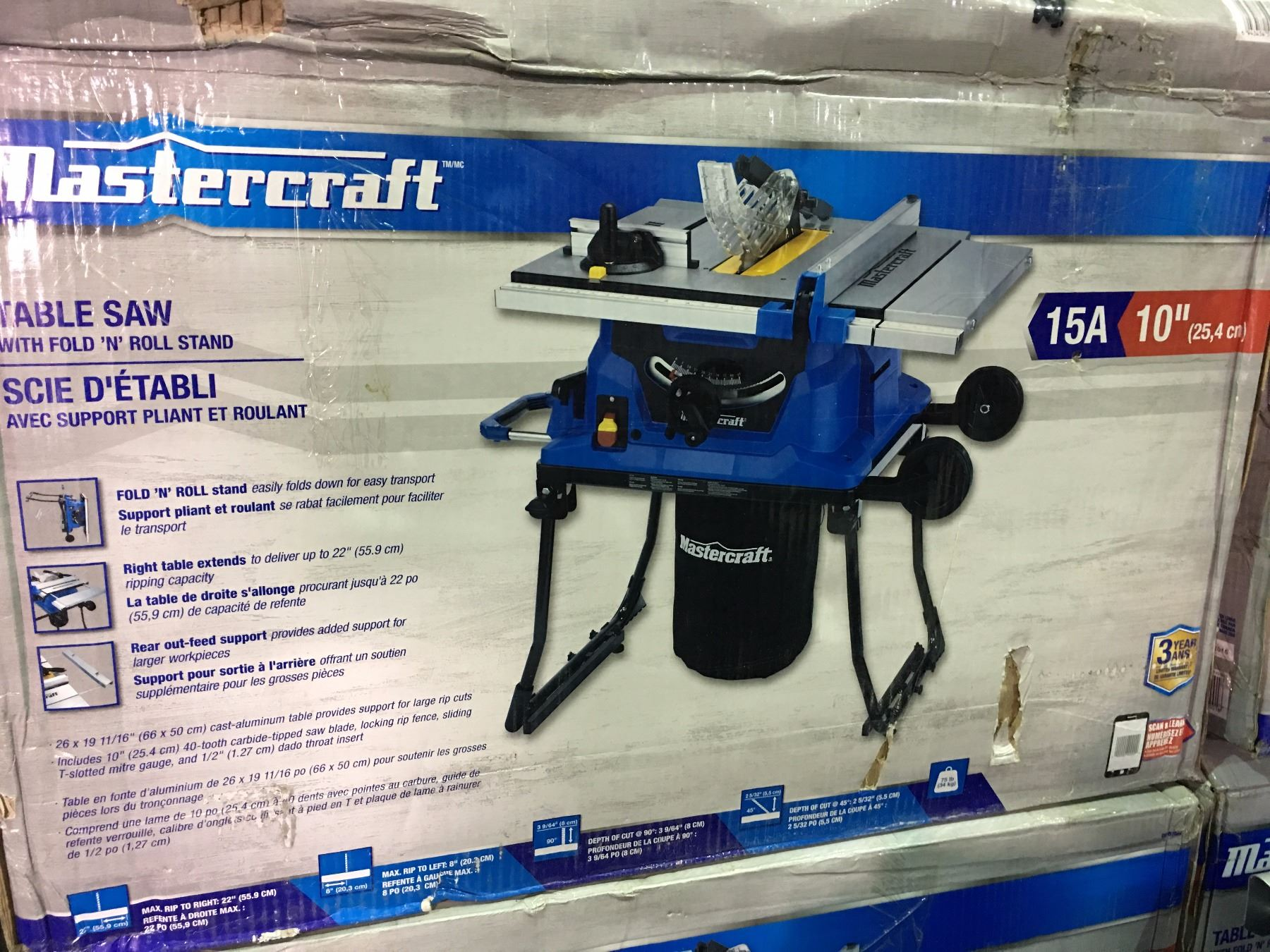 Mastercraft 1015amp table saw with fold roll stand image 2 mastercraft 1015amp table saw with fold roll stand keyboard keysfo Gallery