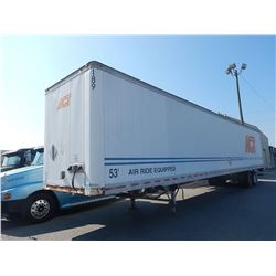 1997 TRAILMOBILE TRIM VAN TRAILER VIN/SN:1PTO1JAHXV6000776 T/A, 53' LENGTH, BARN DOORS, 22.5 TIRES,
