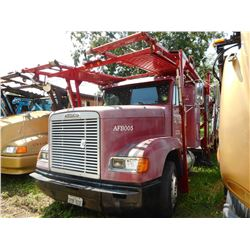 1997 FREIGHTLINER CAR CARRIER TRUCK VIN/SN:1FVXDXYB4VP810252 T/A, CAT ENGINE, 10 SPEED TRANS, 40K RE
