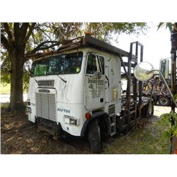 1990 FREIGHTLINER FLA CAR CARRIER TRUCK VIN/SN:1FUPASYB4LH374882 CAB OVER, T/A, CAT ENGINE, 9 SPEED
