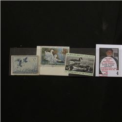 1955 RW22, 1970 RW37, & 1977 RW44 Federal Migratory Bird Hunting Stamps, all signed.