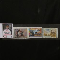 1961 RW28, 1990 RW57, & 1992 RW59 Federal Migratory Bird Hunting Stamps, all signed.