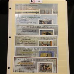 1999 RW66, 2000 RW67, 2002 RW69, 2003 RW70, & 2011 RW78 Federal Migratory Bird Hunting Stamps. All a