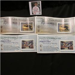 (2) 2002 RW69 & (2) 2003 RW70 Federal Migratory Bird Hunting Stamps. All are still attached to their