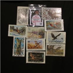 (10) Different Iowa Wildlife Habitat Stamps, a couple have not been signed.