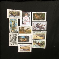 (10) Different Iowa Wildlife Habitat Stamps