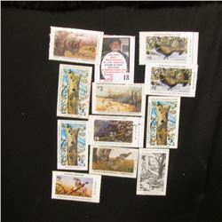 (12) Iowa Wildlife Habitat Stamps, only a couple of duplicates.