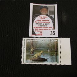 1998-1999 Arkansas Game and Fish Commission Waterfowl Hunting and Conservation $7 Stamp depicting Fe