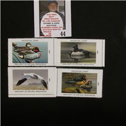 2001, 2004, 2005, & 2006 Iowa Migratory Waterfowl Stamps, all mint, unsigned.