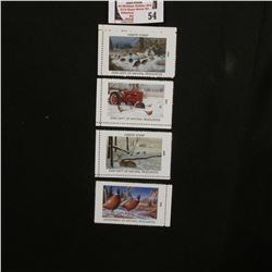 1999, 2001, 2002, & 2003 Iowa Wildlife Habitat Stamps, all mint, and unsigned.