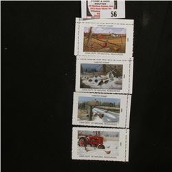 2001, 2003, 2004, & 2007 Iowa Wildlife Habitat Stamps, all mint, and unsigned.