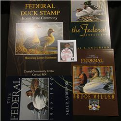 "(3) Different Post cards advertising Federal Duck Stamp Prints ""1989-1990"", ""1993-1994"", ""1994-1995"""