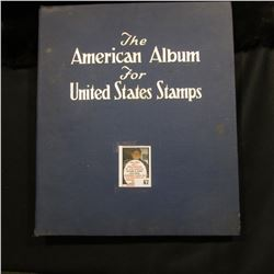 1940 American Album for U.S. Stamps. Approximately 200 mint and used stamps from 1887 to 1940 era, i
