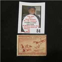 1946 RW13 Federal Migratory Bird Hunting and Conservation $1.00 Stamp. Unsigned, with no gum.
