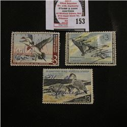 1962 RW29, 1963 RW30, & 1964 RW31 Federal Migratory Bird Hunting and Conservation $3.00 Stamps, all