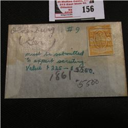 #9 Oldenburg, Germany cancelled 1861 1/4 denomination Postage Stamp. 'Doc' seemed to think this stam