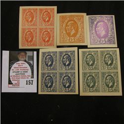 Group of Tatham Stamp & Coin Co. Souvenir Stamps and blocks of Stamps.