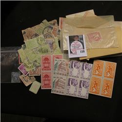 Great Britain 2 1/2Pence Stamp; large group of stamps from Poland; Bullseye cancelled George Washing