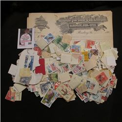 Couple of Stichter Hardware Co. Limited Invoices from 1907-08; & a large group of mixed U.S. Postage