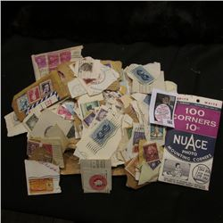 Large group of U.S. Mixed postage Stamps, 'Doc' called them mostly soakers.