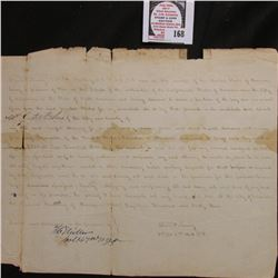 "November 17th, 1864 Civil War Prisoner's letter from Private Daul W. Lewry. ""On this day of November"
