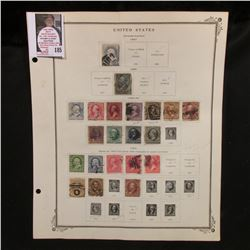 Circa. 1887-1894 U.S. Stamps hinged to page including: Scott # 212, 216, 219-228, 246-250, 253, 254,