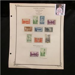 All the National Parks Issues from 1934, National Exhibitions Issues Imperforates, National Philatel