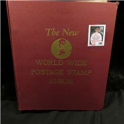 "Used ""The New World Wide Postage Stamp Album"", by Minkus Publications. Copyright 1962. Used. Lots of"