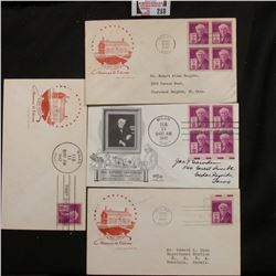 (4) 1847-1947 Thomas A. Edison First Day of Issue Covers, mint condition.