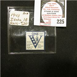 1943 Boise, Idaho World War II Victory Stamp.