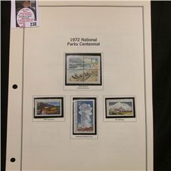 1972 National Parks Centennial Cape Hatteras National Seashore block of four, Wolf trap Farm, Yellow