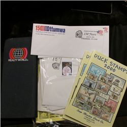 "Greeting card with stamps ""Commemoratively Your for 1968 With Best Wishes from…"" (includes several M"