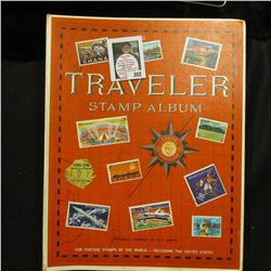 "Harris ""The New Traveler Album Postage Stamps of the World"" 1966, Includes hundreds of stamps."