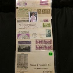 """Wells & Nellegar Co….Chicago"" Cover; 1787-1937 First Day of Issue Constitution stamp Cover commemor"