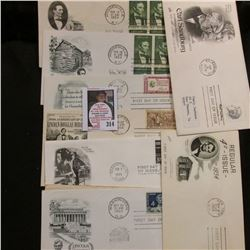 "1948 First Flight Cover U.S. Air Mail ""First Flight AM86…Wasau, Wis.""; & (10) additional First Day C"