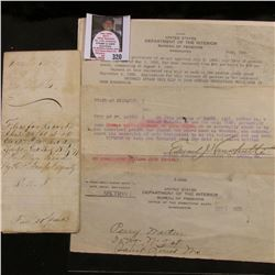 Birth Certificate for Child born in 1903; April 1866 Legal papers; 1926 Legal Paper; 1911 Missouri W