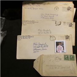 "1922 Postmarked Envelope from Ottumwa, Iowa with letter; 1952 letter from ""State Federal Soldiers' H"