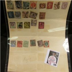 Group of Early Great Britain Postage stamps, not checked for rarity.