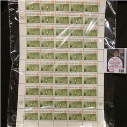 "1962 Original Mint (50) Count Sheet United Nations Four Cent ""Operations in the Congo Stamps."