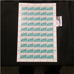 "1962 Original Mint (50) Count Sheet United Nations Eleven Cent ""Operations in the Congo Stamps."