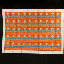 1962 Original Mint (50) Count Sheet United Nations One Cent Stamps.