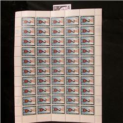 1960 Original Mint (50) Count Sheet United Nations Four Cent Stamps.