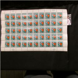 "1961 Original Mint (50) Count Sheet United Nations Eleven Cent Stamps. ""Economic Commission for Lati"