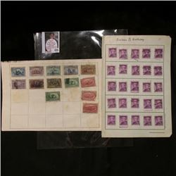 (25) Cancelled Susan B. Anthony .50c USA Stamps; & group of Columbian & Transmississippi cancelled S